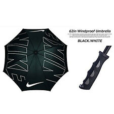 "NIKE GOLF 62"" WINDPROOF UMBRELLA  BLACK / WHITE - GRAPHIC  NEW WITH TAG!! 17898"