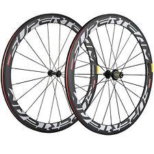 Full Carbon Fiber Road Bicycle Wheelset Matte 50mm Clincher Carbon Wheels R13