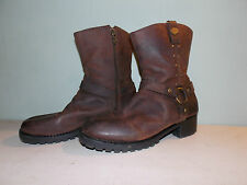 2000's Woman's Brown Motorcycle Boot By HarleyD. Sz 10 Used / Good Condition