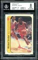 Michael Jordan Rookie Card 1986-87 Fleer Stickers #8 BGS 8 (8.5 9 8 8)