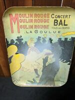 Vintage Moulin Rouge Plastic Tray Concert Ball Printed Advertisement Memorabilia