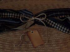 "50 Homespun Fabric Strips~Navy Collection~ 1"" x 18"" ~Crafts~Ties~Primitives~"