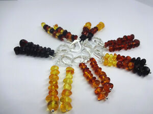 Baltic amber earrings - choose your favorite color!
