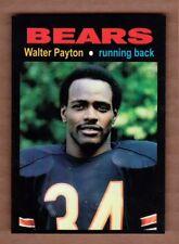Walter Payton '75 Chicago Bears rookie season MC Glory Days #9