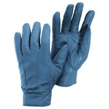 Gants de cuir bleu pour femme