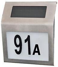 Solar Hausnummernleuchte Hausnummer Leuchte Hausnummernschild Licht LED Nummer