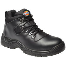 Mens Dickies Steel Toe Cap Safety BOOTS Size UK 8 EU 42 Fa23330 Black