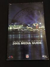 2005 JACKSONVILLE JAGUARS MEDIA GUIDE- LEFTWICH GARRARD TAYLOR MATT JONES DELRIO