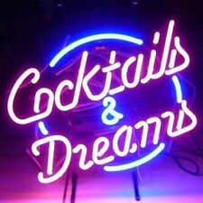 "New Cocktails And Dreams Neon Sign For Pub Bar 20""x16"""