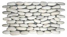 Sample White Natural Standing  Pebble Mosaic wall floor tiles