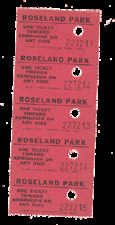 ROSELAND PARK ~ CANANDAIGUA, NEW YORK ~   STRIP OF 5 AMUSEMENT PARK TICKETS ~~