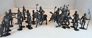 Marx Medieval Knights 54MM 1/32 Black