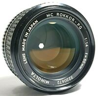 Minolta Rokkor-PG 50mm F1.4 Fast Manual Focus Prime Lens UK Fast Post