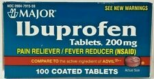Major Ibuprofen 200mg Tablets Pain Reliever 100ct -Expiration Date 03-2021-