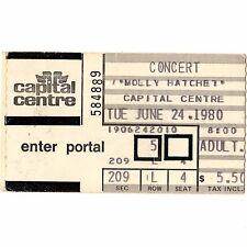 MOLLY HATCHET Concert Ticket Stub LANDOVER MD 6/24/80 FLIRTIN WITH DISASTER TOUR
