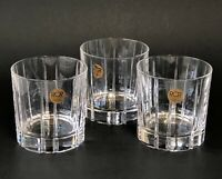 RCR Royal Crystal Rock Novecento Double Old Fashioned Glasses Set of 3 Italy