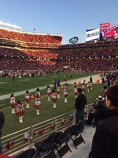 2 San Francisco 49ers SBL Sec 143 Row 5 49ers bench sideline seats