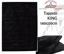 Tappeto Moderno KING 160x230 100% Viscosa Nero Effetto Lucido Alta Qualità