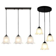 3-Lights Glass Pendant Light Hanging Ceiling Lighting Fixture Chandelier Lamp