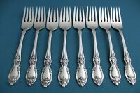 "8 Salad Forks Oneida Community LOUISIANA Stainless 6 7/8"""