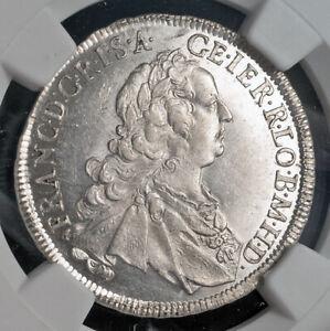 1752-HA, Austria, Francis I Stephen. Silver 17 Kreuzer Coin. Top Pop! NGC MS-63!