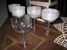 vintage Grainware 16 oz. Plastic Glass Set 4 all purpose wine water Lexan resin