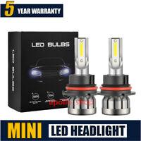 MINI 9004 HB1 LED Headlight Kit Hi/Lo 1500W 225000LM Fog Light Bulbs 6000K Lamps