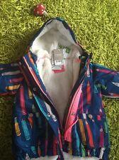 Next Baby Girls Shower Resistant Warm Pencil Design Coat Jacket 9-12 Months New