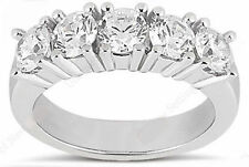 5 Stone Diamond Wedding Ring Anniversary Band 1.51 carat total F color Vs/Si1