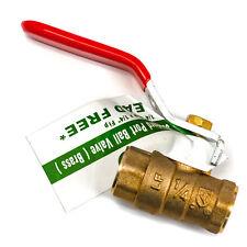 Lead-Free Brass Ball Valve - Std. Port - 1/4-Inch FIP x 1/4-Inch FIP