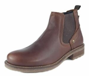 Wrangler Hill Chelsea Mens Leather Boots Brier Brown