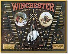 WINCHESTER - Bullet Board Tin Sign rifle shotgun handgun hunting