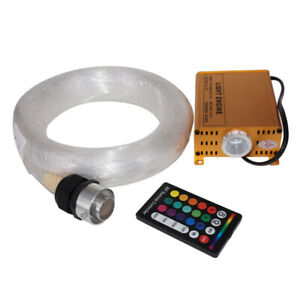 300pcs 3M 12V 16W RGBW Fiber Optic Light Remote Control Star Ceiling Cable