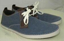 Clarks Neelix Vibe Shoes Canvas Lightweight Casual Mens Lace Up blue Navy 8 M US