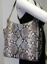"Michael Kors Python Snake Chain Strap Hobo Shoulder Bag Handbag Purse Tote ""NWT"""