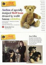 STEIFF BEARS - Postcard Book - Dressed By Celebrities - JOAN COLLINS - MADONNA