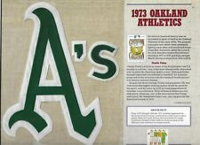 1973 OAKLAND ATHLETICS  WILLABEE & WARD U.S COOPERSTOWN COLLECTION
