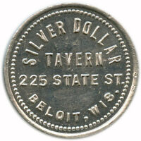 Silver Dollar Tavern 225 State St. Beloit, Wisconsin WI 5¢ Trade Token