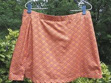 Adidas Climacool orange pattern golf or tennis skort sz. 12 EUC!
