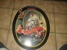 1987 Original Budweiser Oval Anheuser Busch Reproduction Serving Tray Bar Maiden