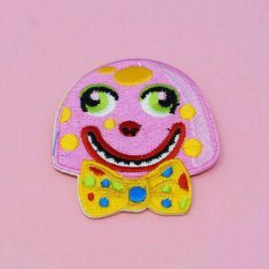 Mister Blobby Iron On Patch Sew pink Mr Noel Edmonds children's family 90s TV