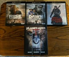 Planet of the Apes 1-3 Trilogy 4K Ultra Hd + Blu-Ray, no Digital