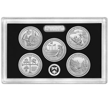 2019-S Park Quarter SILVER Proof Set-No Box, COA / Pure 99.9% Silver!!