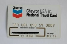 Chevron USA Inc Gas Travel Credit Card 1993 Expired Unsigned Vintage