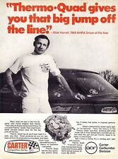 1970 DICK HARRELL DRAG RACING / CAMARO  ~  ORIGINAL CARTER CARBURETOR AD