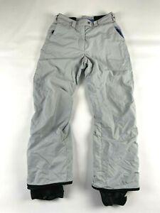 Columbia Women's M Medium Convert Snowboard Pants Silver Gray