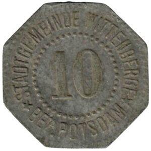 ALLEMAGNE - WITTENBERGE - 10.1 - Monnaie de nécessité - 10 pfennig 1917
