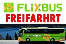4x Flixbus Freifahrt Gutschein { Mit oder ohne Umsteig } &