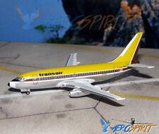 Rare Diecast Boeing B 737-2A9AC Transair 1980 C-FTAN AeroClassics 1:400 AC18095B