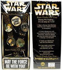 Disney Parks Star Wars Lanyard 4-Pin Starter Set Vader Luke Han Boba Fett (NEW)